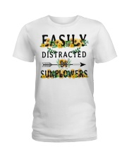 Easily distracted by sunflowers Ladies T-Shirt thumbnail