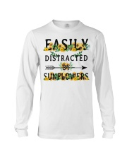 Easily distracted by sunflowers Long Sleeve Tee thumbnail