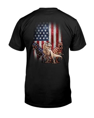 Dinosaur- Flag - Shirt