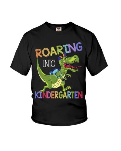 Dinosaur - Roaring Into Kindergarten - Shirt