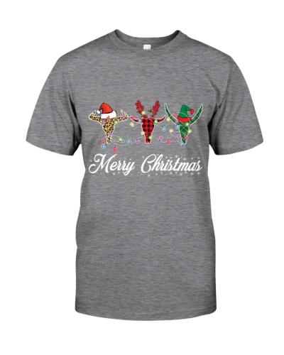 Merry Christmas Bull Skulls