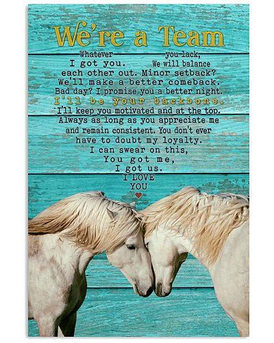 Horse - We're A Team White Horse Couple