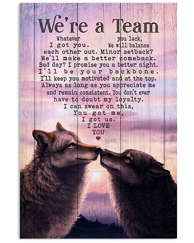 Wolf - We Are A Team Purple