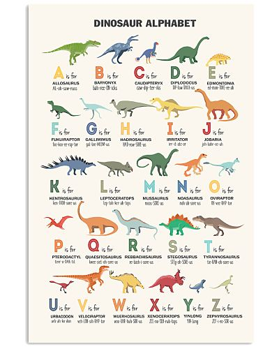 Dinosaur - Alphabet2- Poster