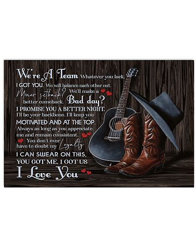 Country - We're A Team Guitair