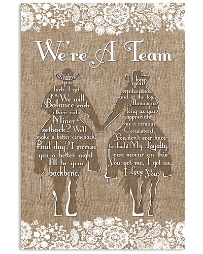 Country - We're A Team Burlap Style