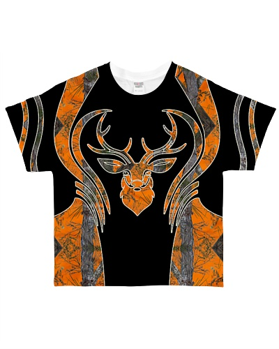 Hunting - Head Buck Camo Orange