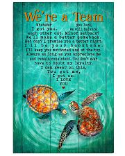 Turtle - We Are A Team Green  11x17 Poster front