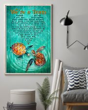 Turtle - We Are A Team Green  11x17 Poster lifestyle-poster-1