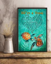 Turtle - We Are A Team Green  11x17 Poster lifestyle-poster-3