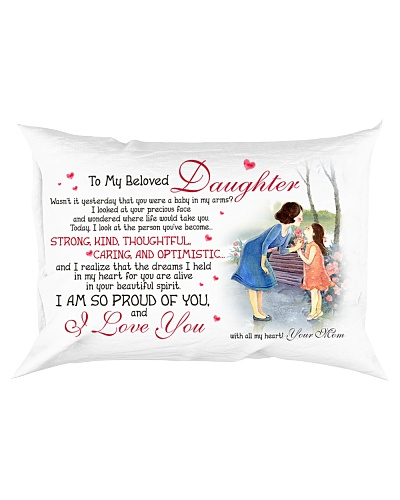 Daughter Mom - I Love You - Pillow