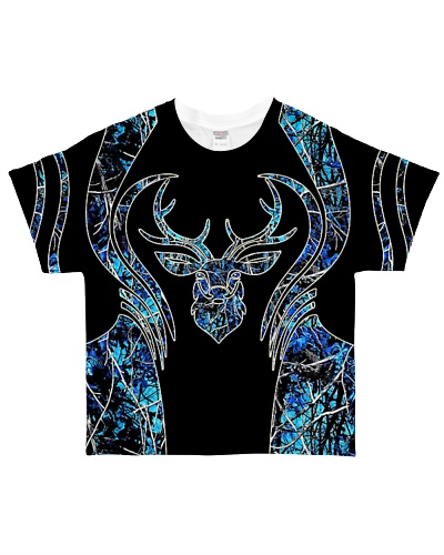 Hunting - Head Buck Camo Blue
