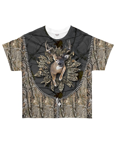 Hunting - 3D Buck With Camo Sunflower