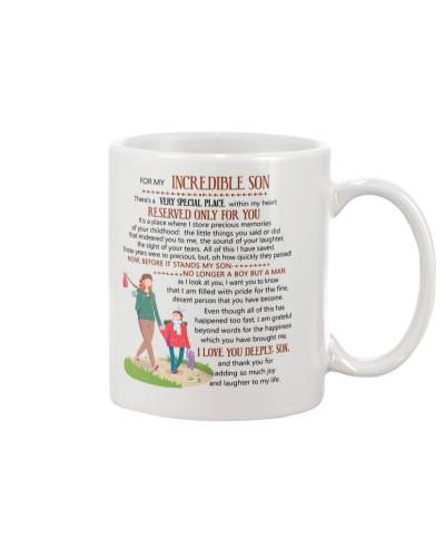 Son Mom - For My Incredible Son - Mug