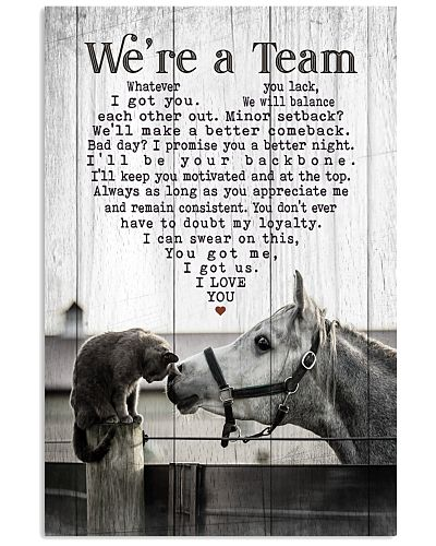 Horse and Cat - We're A Team