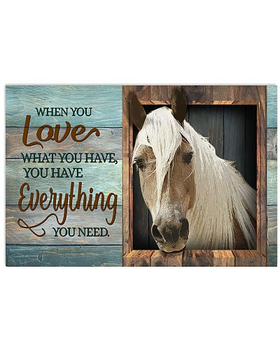 Horse - When You Love What You Have Window