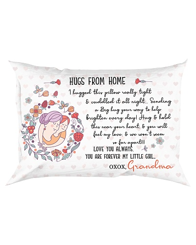 Grandmother Granddaughter - Hug From Home - Pillow