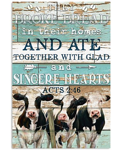 Cow -They Broke Bread In Their Homes - Poster