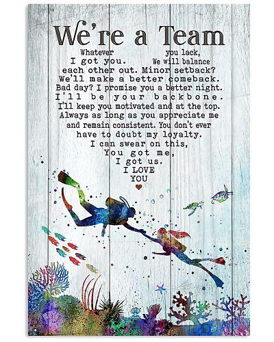 Scuba Diving - We're A Team