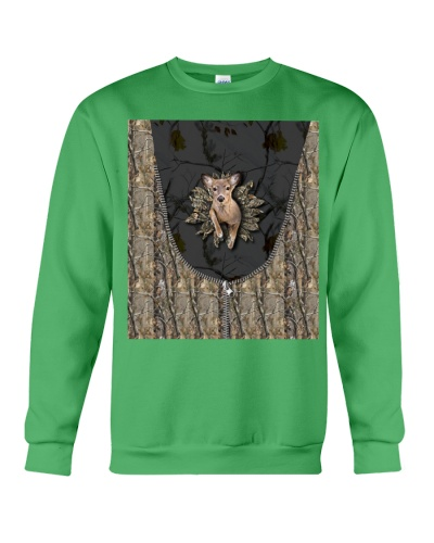 Hunting - 3D Doe With Camo Sunflower