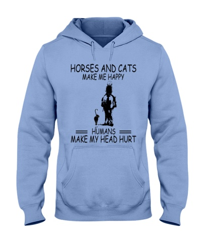 Cats And Horses Make Me Happy