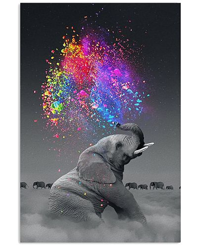 Elephant - Spray Color - Poster