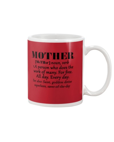 Daughter Mom - Definition Of Mother - Mug
