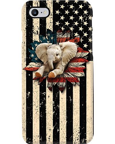 Elephant - Elephant With American Flower