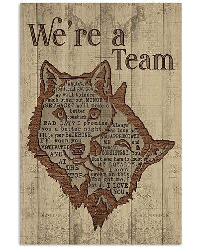 Wolf - We're A Team Typography Ver