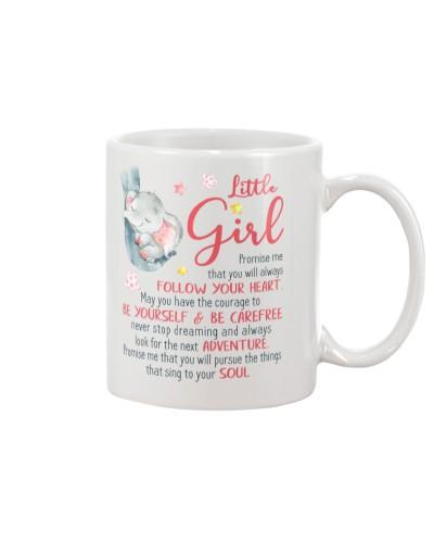 Elephant - Little Girl - Mug