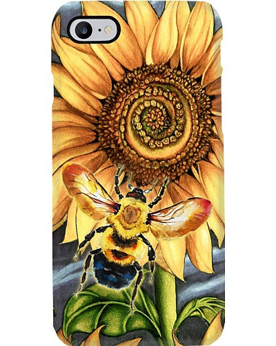 Bee - Sunflower - Smelling - Phone Case