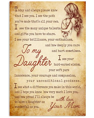 Daughter Mom - Today And Always - Poster