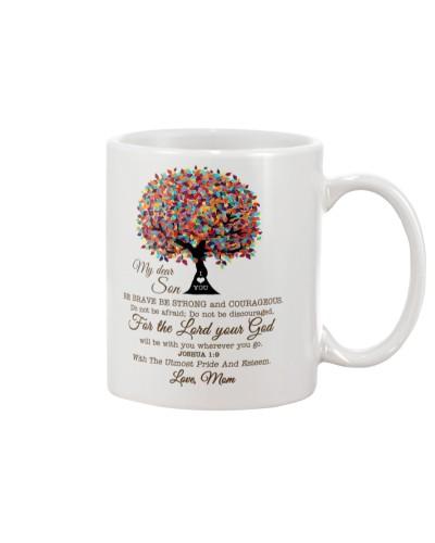 Mom Son - Be Brave - Mug
