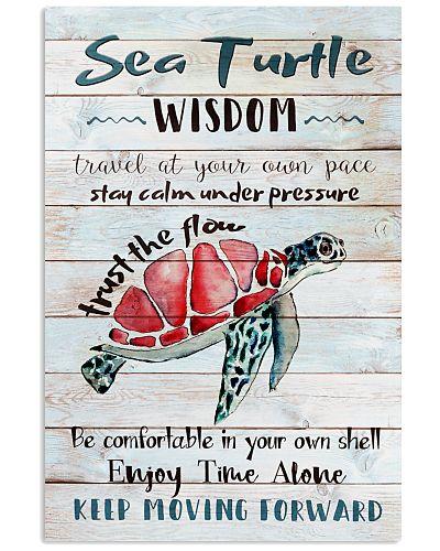 Turtle - Sea Turtle Wisdom -  Poster