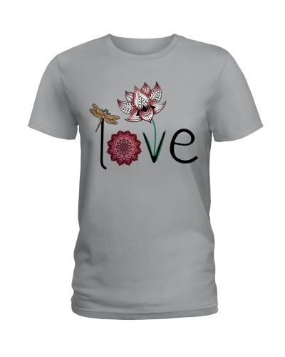 Dragonfly - Lotus Mandala Love - Shirt