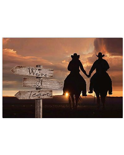 Country - We're A Team Wooden Directional Sign