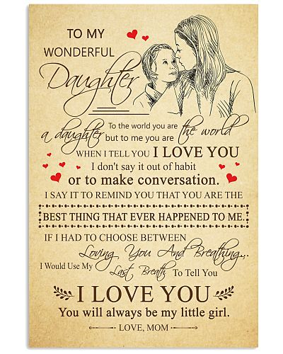 Daughter Mom - My Wonderful Mom - Poster