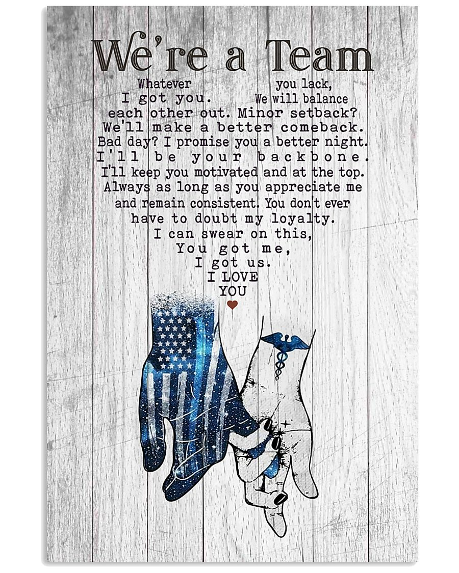 Nurse - We're A Team Couple Hand In Hand 11x17 Poster
