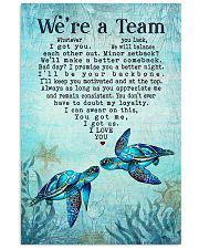 Turtle - We're A Team Blue Couple 16x24 Poster front