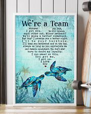 Turtle - We're A Team Blue Couple 16x24 Poster lifestyle-poster-4