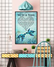 Turtle - We're A Team Blue Couple 16x24 Poster lifestyle-poster-6