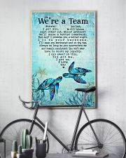Turtle - We're A Team Blue Couple 16x24 Poster lifestyle-poster-7