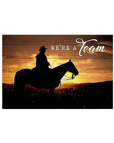 Country - We Are A Team - Cowboy And Horse