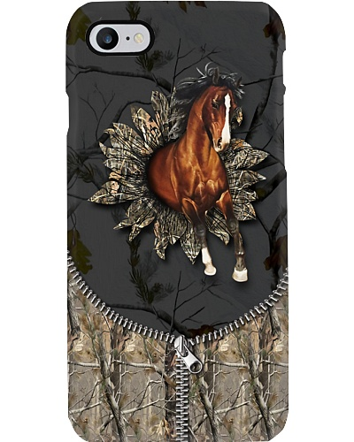 Horse - 3D Horse With Camo Sunflower