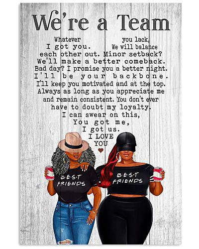 Best Friend - We're A Team Black Chubby