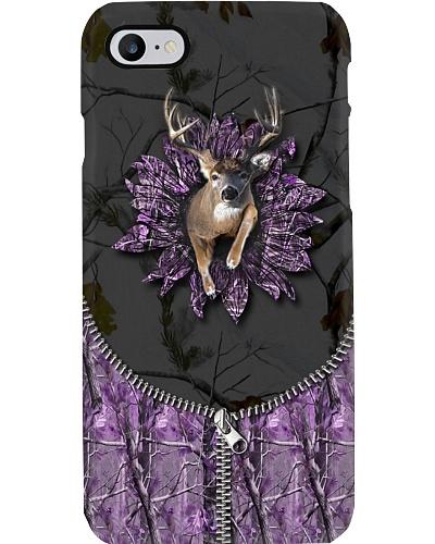 Hunting - 3D Buck With Camo Sunflower Purple