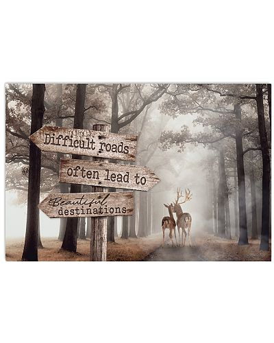 Hunting - Difficult Roads Directional Sign