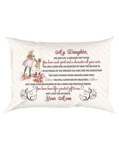 Daughter Mom - You Are Life Is Greatest - Pillow