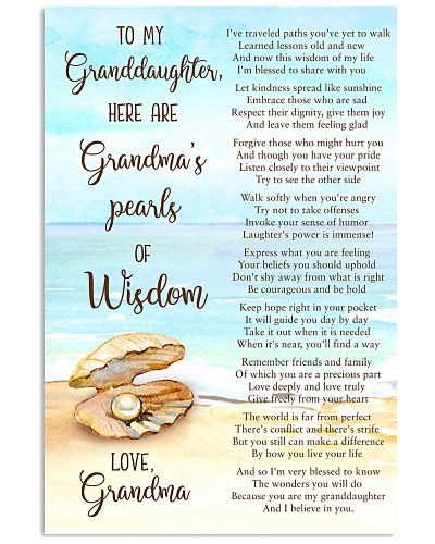 Grandmother Granddaughter Pearls Of Wisdom