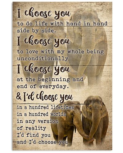 I Choose You To Do Life With Elephant Couple V3